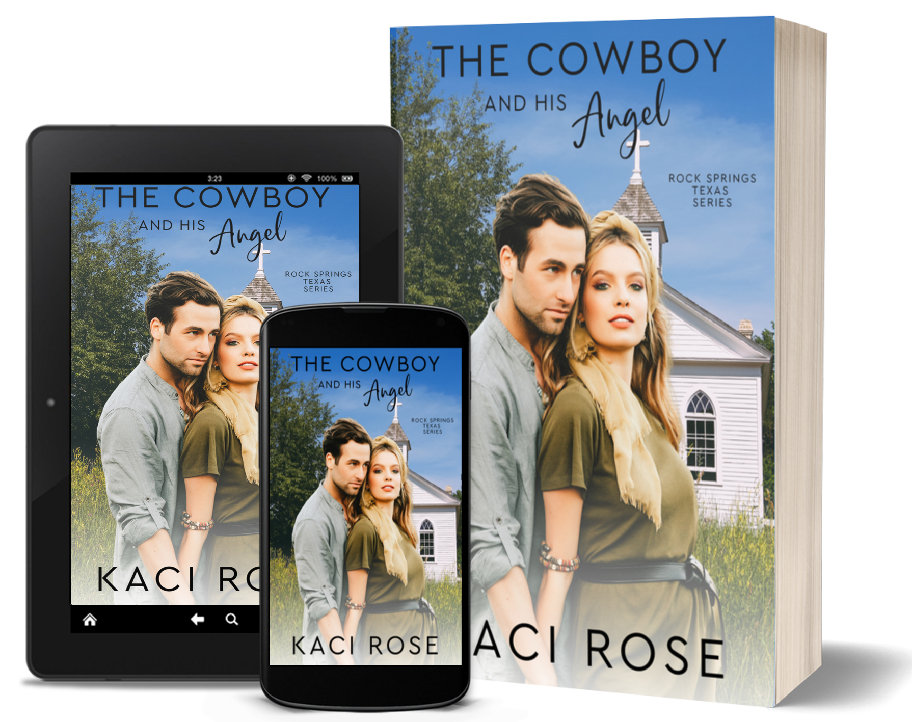The Cowboy and His Angel - 3D covers