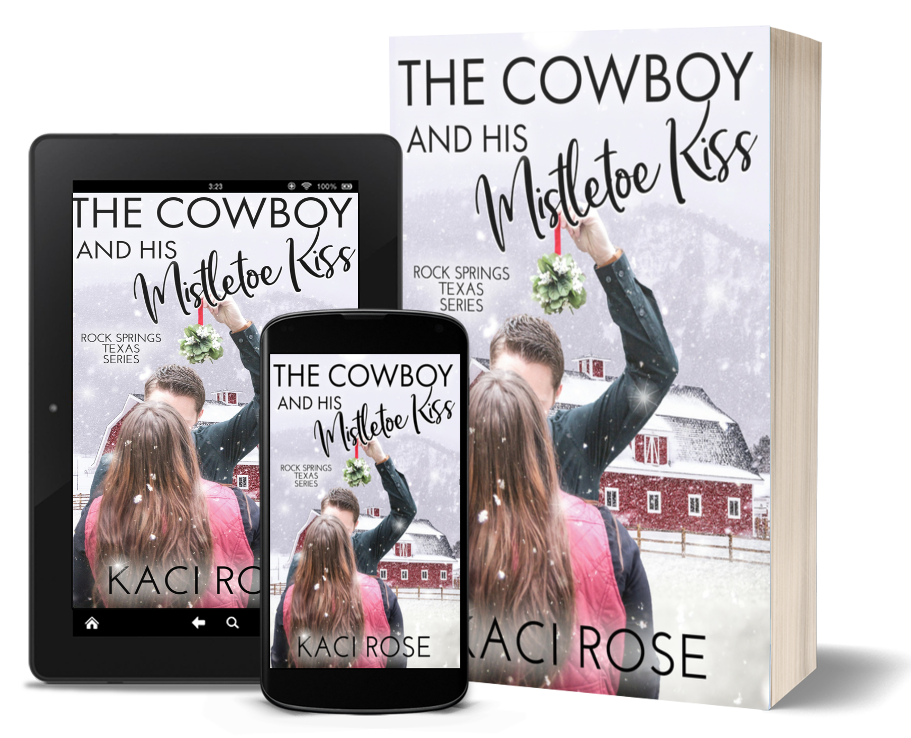 The Cowboy and His Mistletoe Kiss - 3D covers